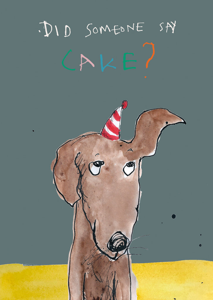 Dog BIrthday Cake postcard, FP800