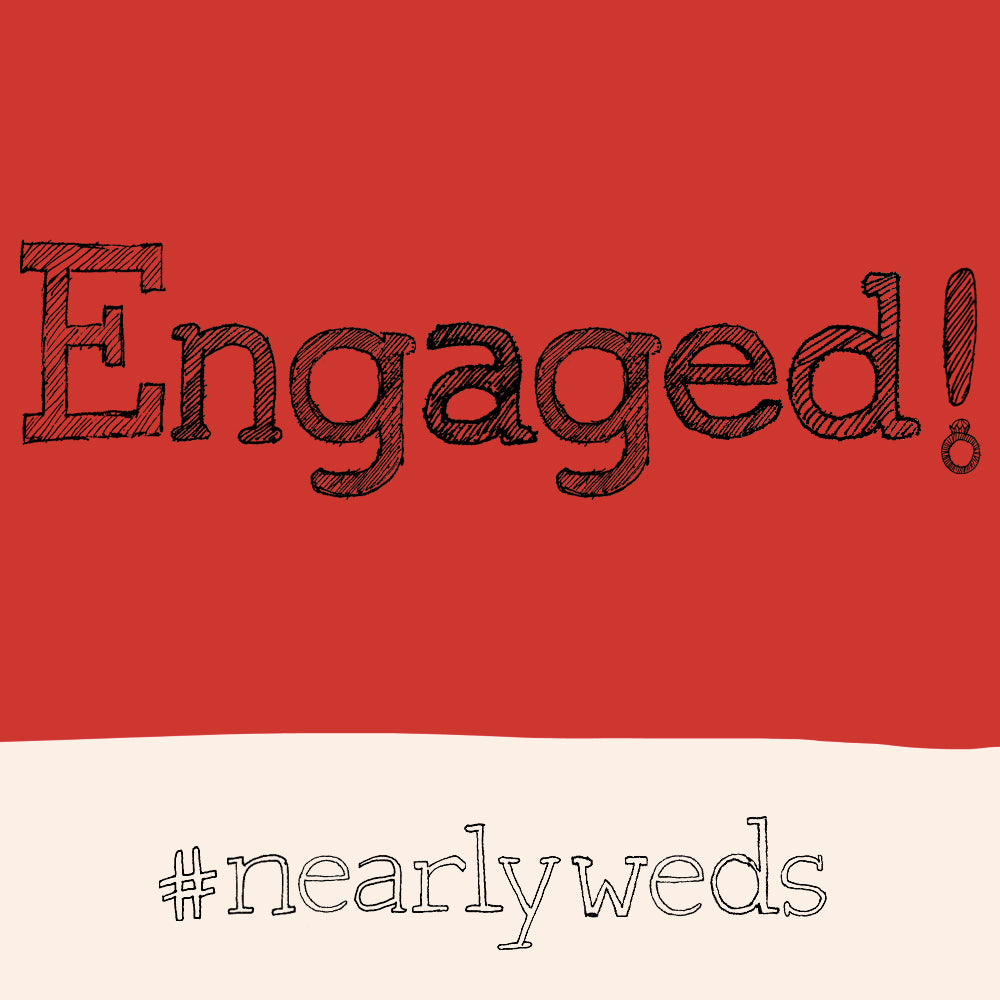 'Engagement ' Greetings Card, Hashtag