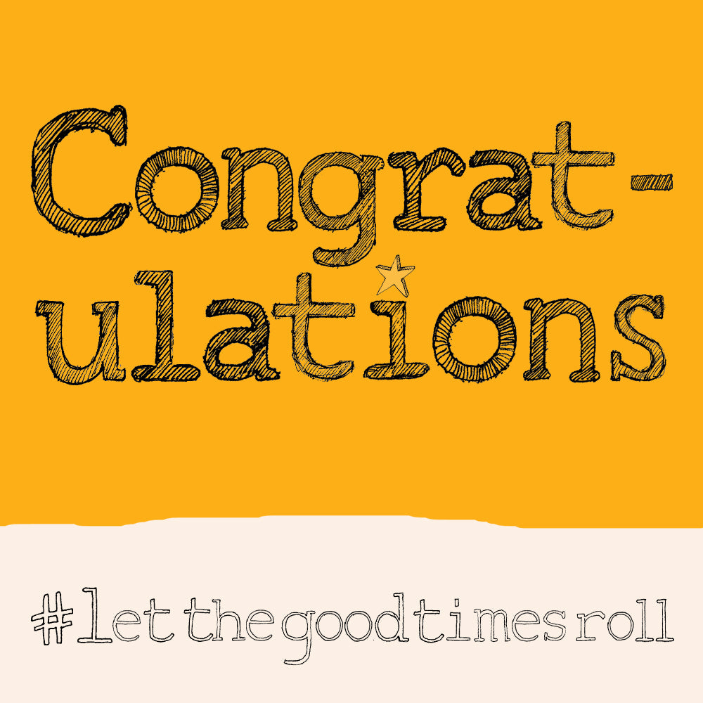 Load image into Gallery viewer, 'Congratulations' Congratulations Card,Hashtag