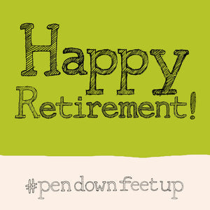 Load image into Gallery viewer, 'Retirement' Greetings Card, Hashtag
