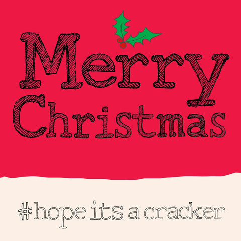 'Christmas -Cracker' hashtag card, FP842