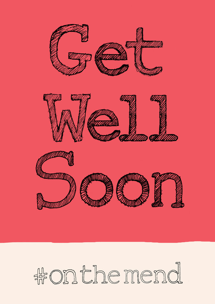 'Get Well Soon' hashtag A4 card, FP851