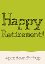 'Happy Retirement' hashtag A4 card, FP852