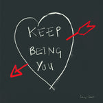 Keep Being You/Chalkboard FP85Poet & PainterCards