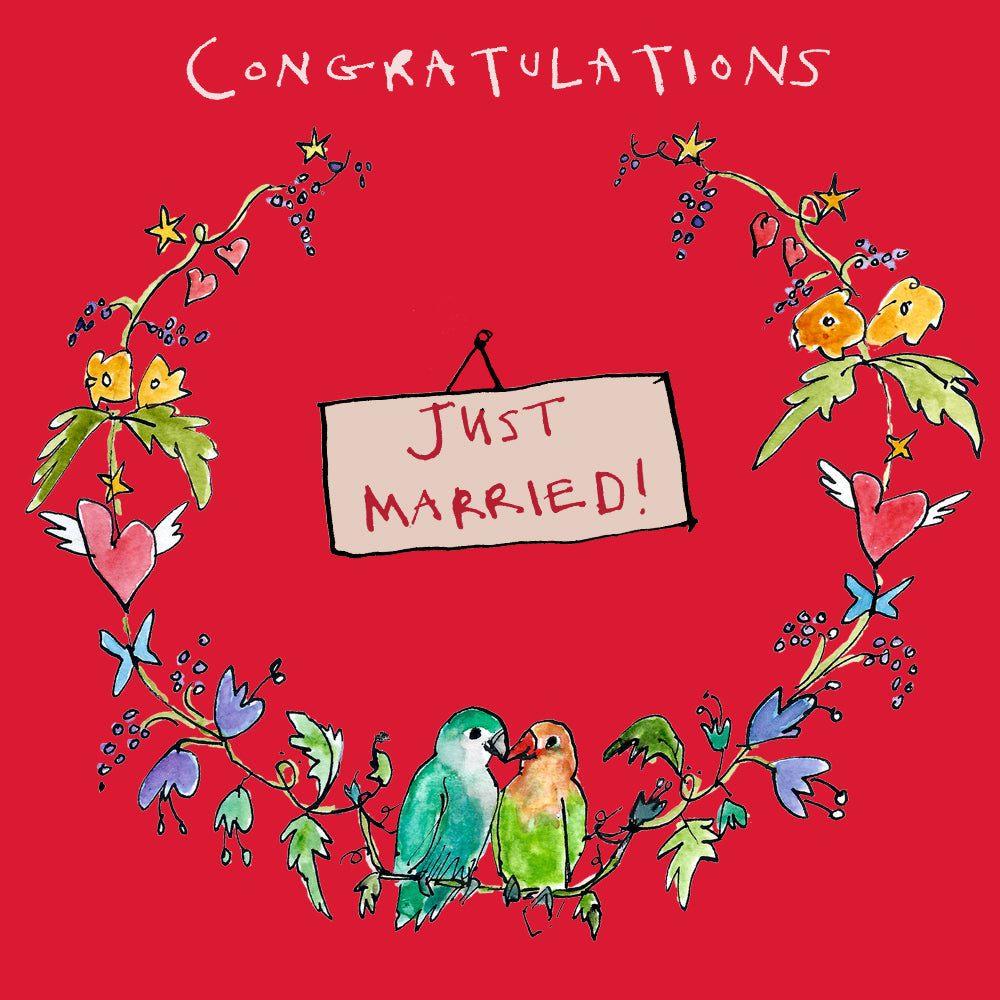 'Just Married Garland' card, FP883
