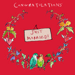 'Just Married' Greetings Card, Garland