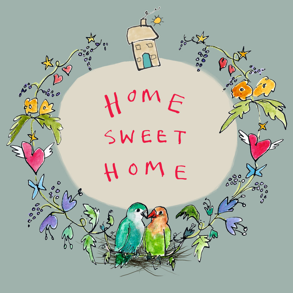 Load image into Gallery viewer, 'Home Sweet Home Garland' Greetings Card, Garland