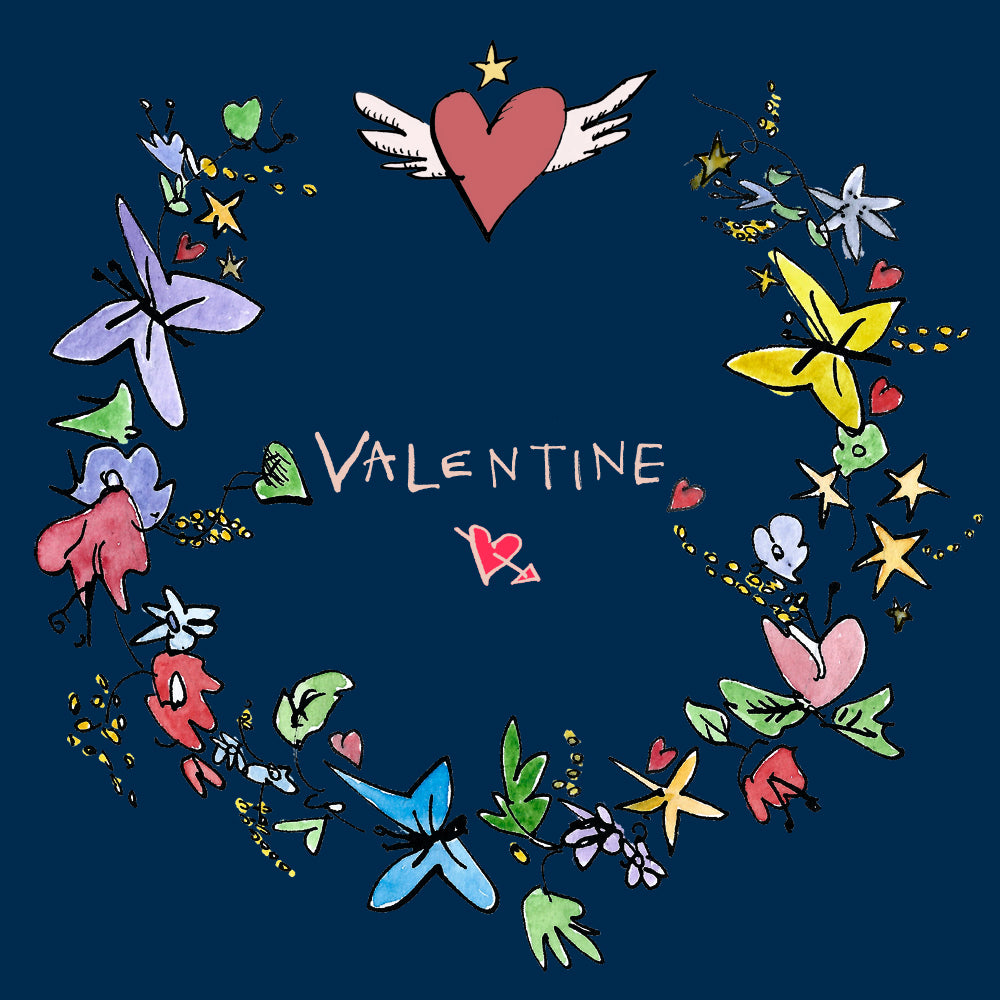'Valentine' Greetings Card, Garland