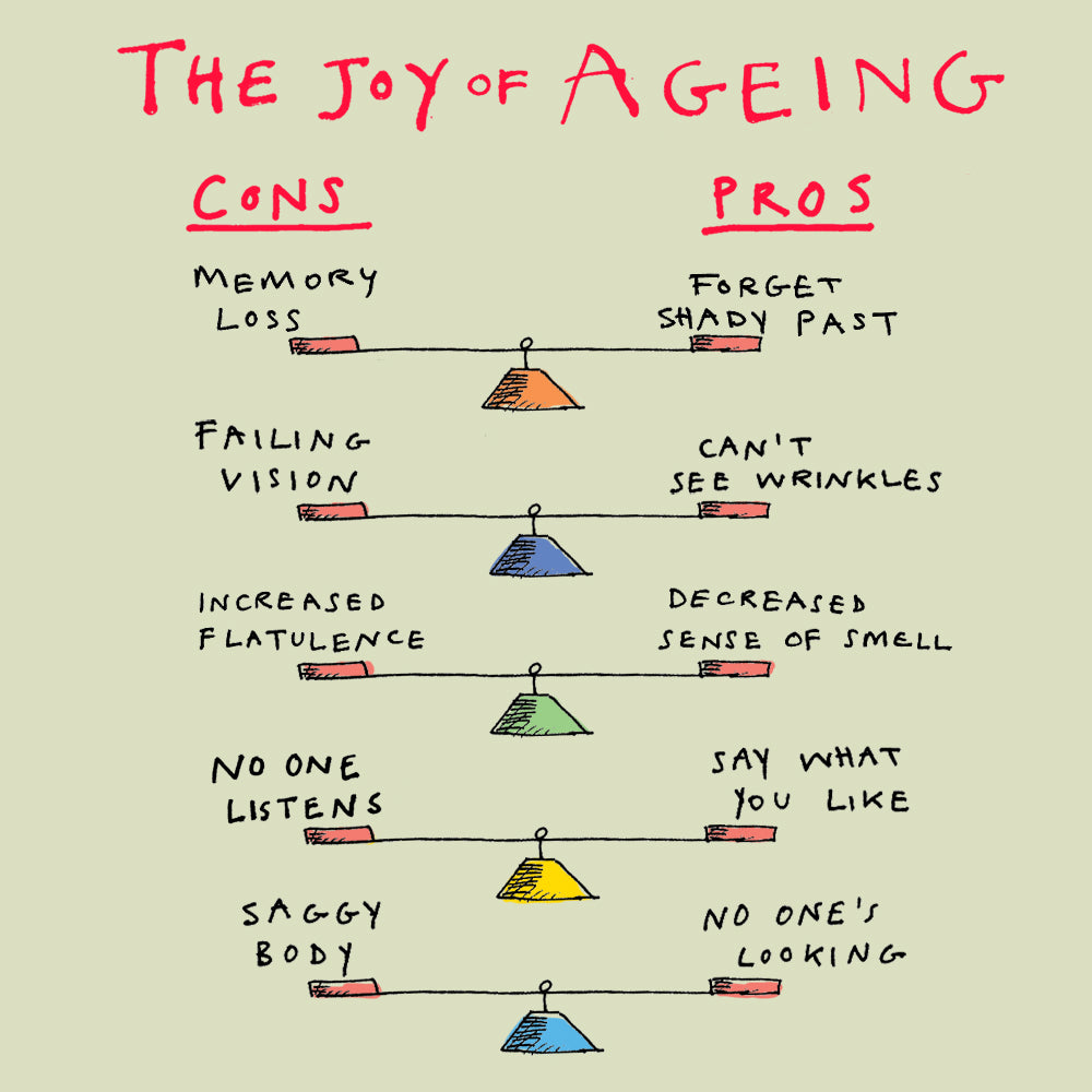 'The Joy of Ageing' Greetings Card