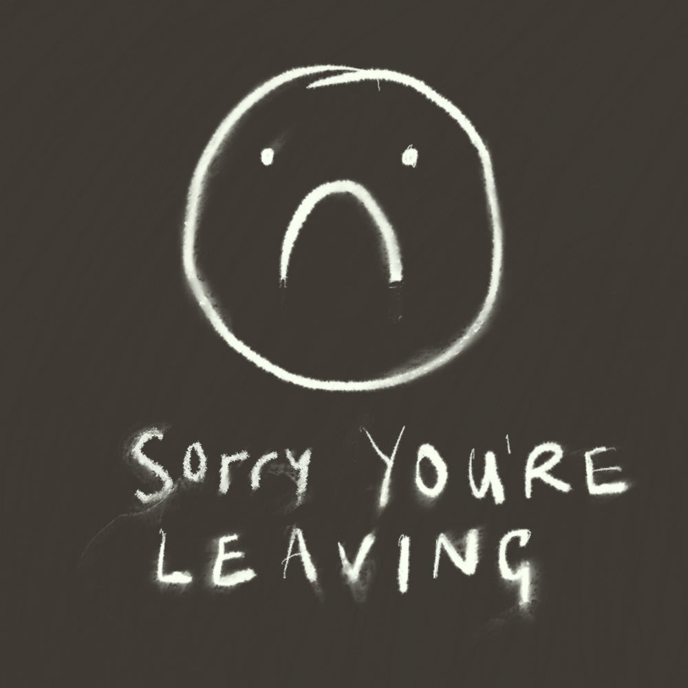 'Sorry you're leaving' blackboard, FP944