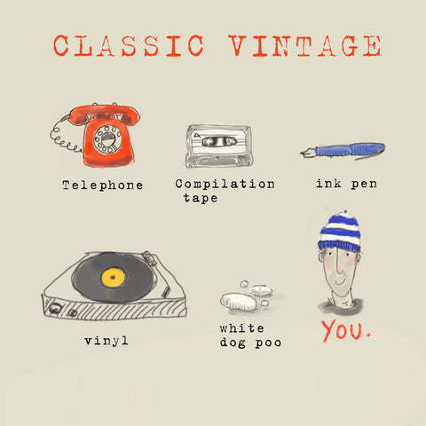 'Classic Vintage' Greetings Card