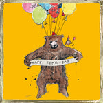 'Happy Bear Day' Greetings Card, Glitzy