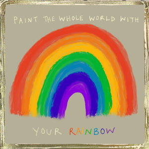 'Paint the World' Greetings Card,Glitzy