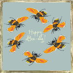 'Happy Bee Day' Greetings Card, Glitzy