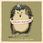 ' Happy Birthday Hedge Hug' Greetings Card, Studio