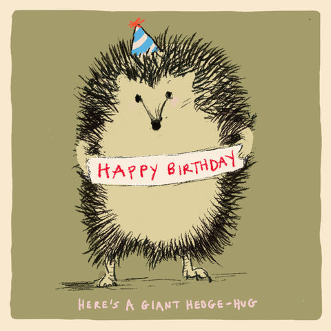 ' Happy Birthday Hedge Hug' card, Studio Collection FP978
