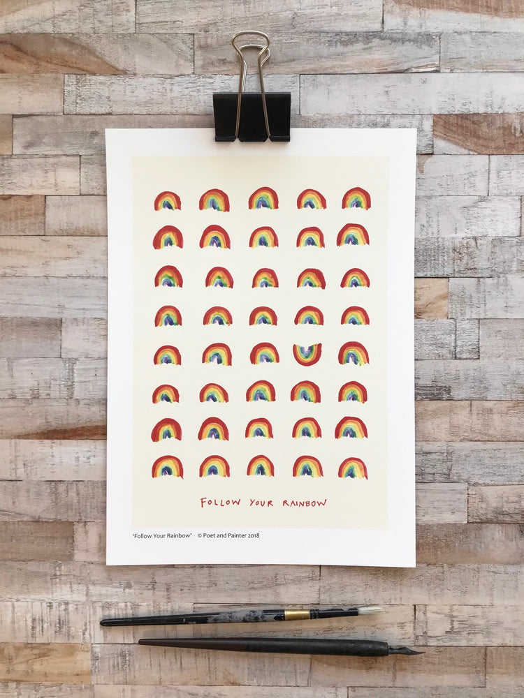 Load image into Gallery viewer, ' Follow Your Rainbow' Original Art Print