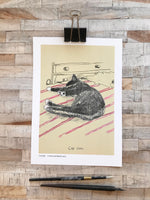 'Cat Nap' Original Art Print