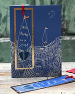 ' Sail Away in a Story ' Greetings Card with foiled bookmark