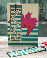 'A Woman's Place ' Greetings Card with foiled bookmark