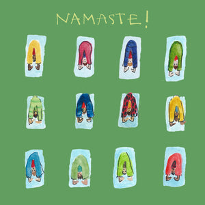 Load image into Gallery viewer, Namaste Card Green FP623Poet & PainterCards