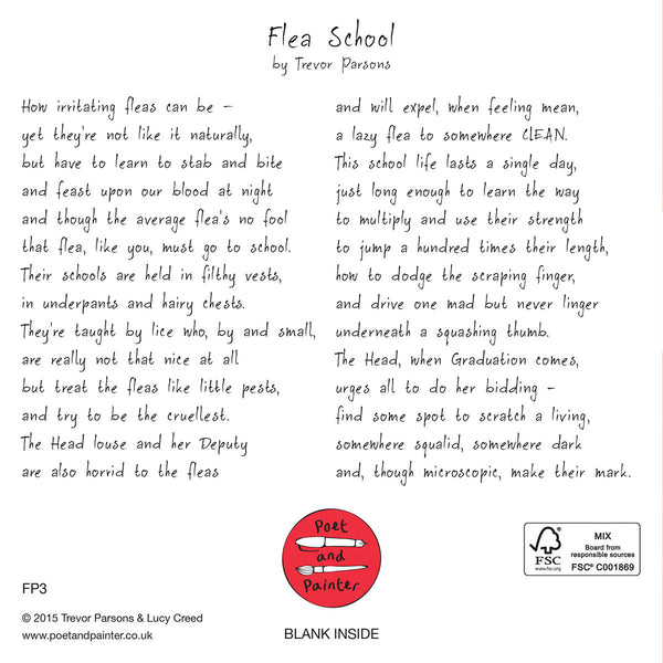 Flea School Card FP3Poet & PainterCards
