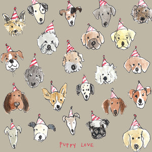 'Puppy Love' Greetings Card
