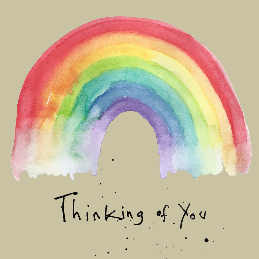 Thinking of You Rainbow Card  FP647Poet & PainterCards