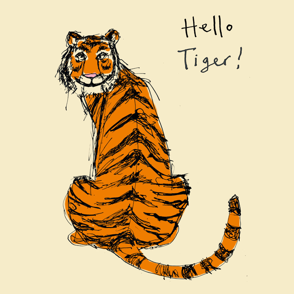 'Hello Tiger' Greetings Card