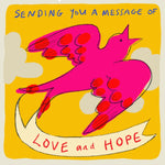 ' Message of Love and Hope'Greetings Card,Studio