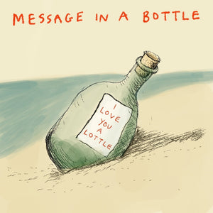 ' Message in a Bottle' Greetings Card