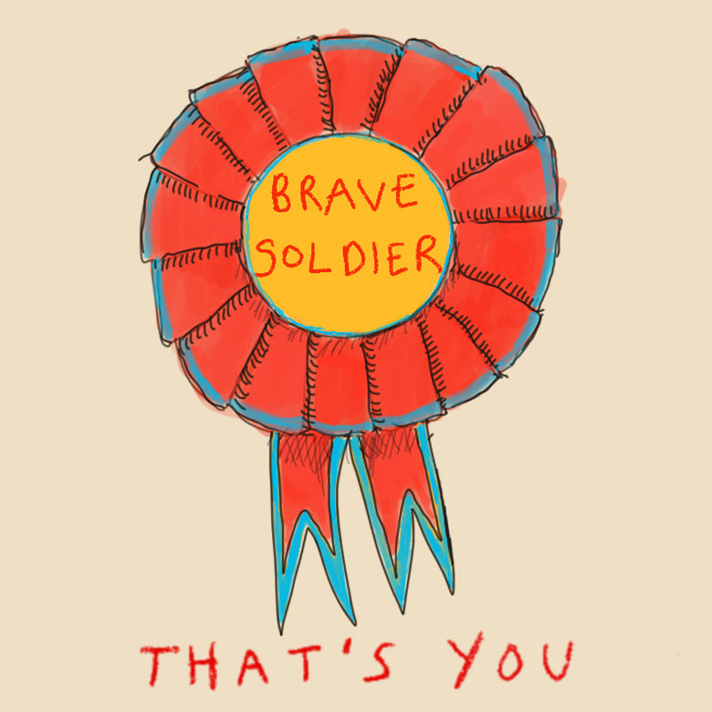 Load image into Gallery viewer, 'Brave Soldier' Greetings Card