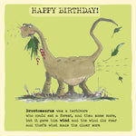 'Brontosaurus' Birthday Card, Studio