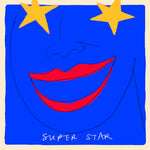 'Star Blue Face' Greetings Card, Studio
