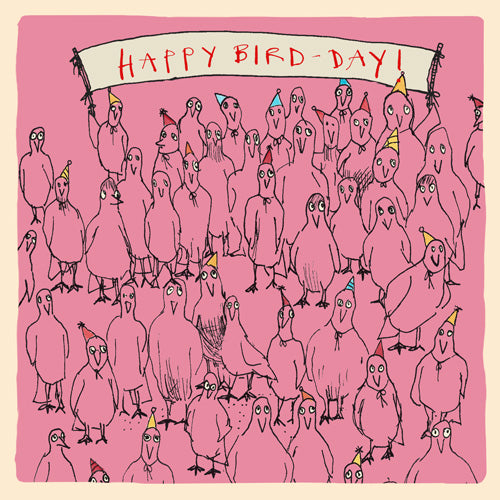 'Happy Bird-Day' Greetings Card, Studio