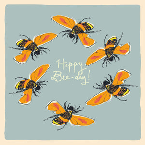 'Happy Bee Day' Greetings Card, Studio