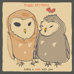 'Life's a Hoot ' Birthday Card, Studio