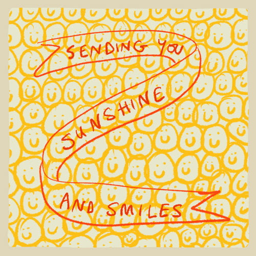 Sunshine and Smiles Pack of 6 Notecards FP994