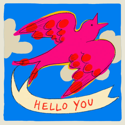 'Hello You'  Multi-Pack of 6 Notecards