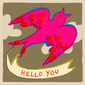 'Hello You' Greetings Card, Studio
