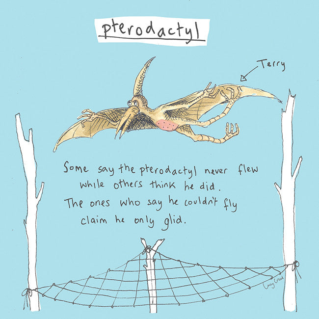 Pterodactyl Card FP5Poet & PainterCards