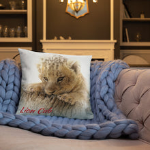 Load image into Gallery viewer, Basic Throw Pillow-Lion Cub