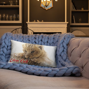 Basic Throw Pillow-Lion Cub