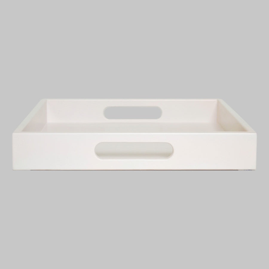 pale pink tray with handles