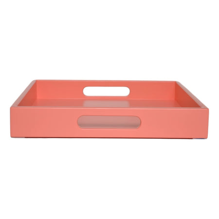 coral pink tray with handles