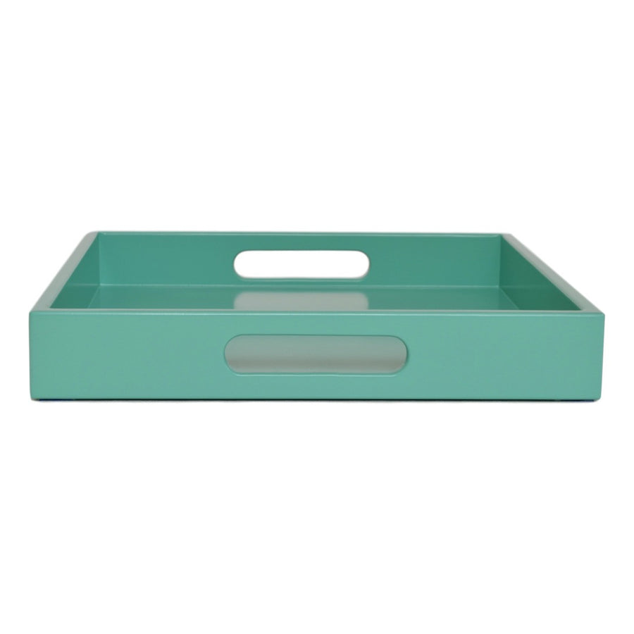 turquoise tray with handles