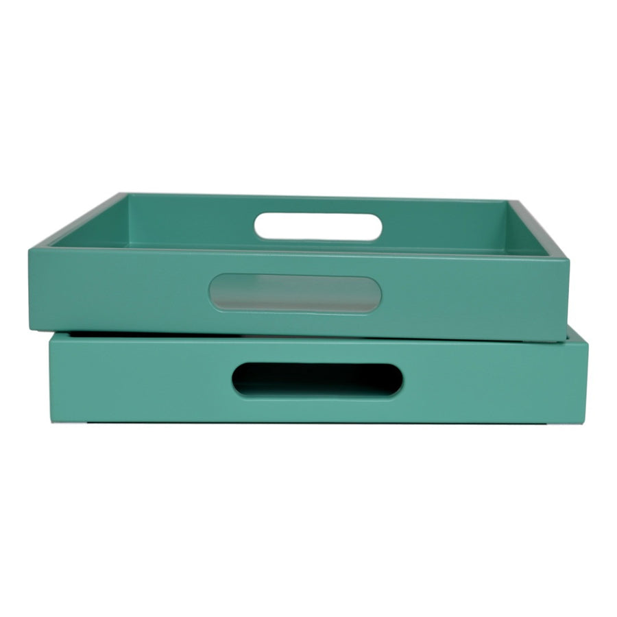 turquoise serving tray