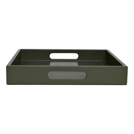 olive green tray with handles