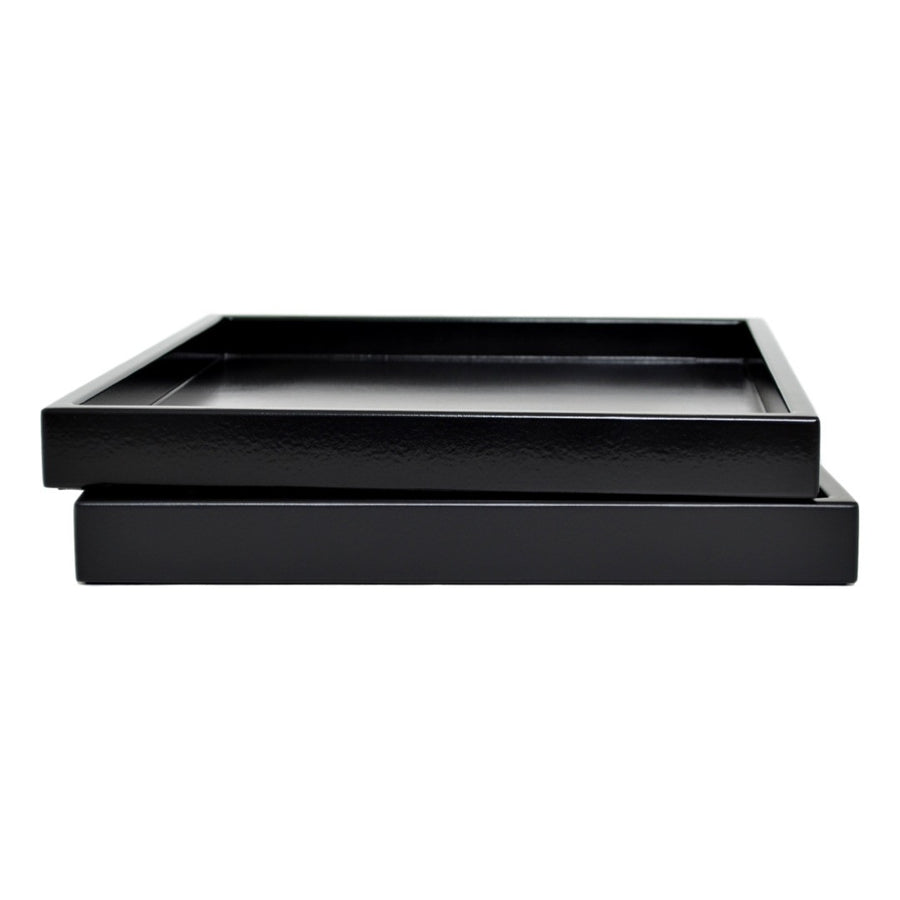 black low profile lacquer tray