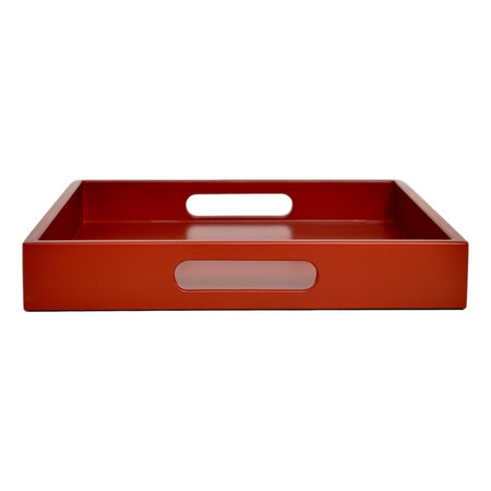 merlot red tray with handles